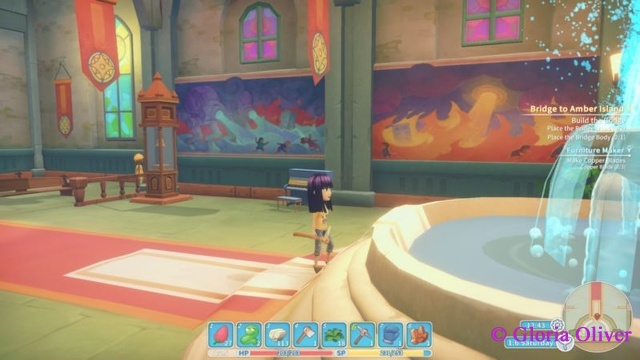 My Time at Portia - murals at the Church of Light