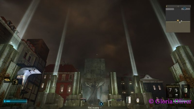 Deus Ex Mankind Divided - park outside the bank