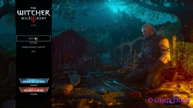 Witcher 3 - Start Screen
