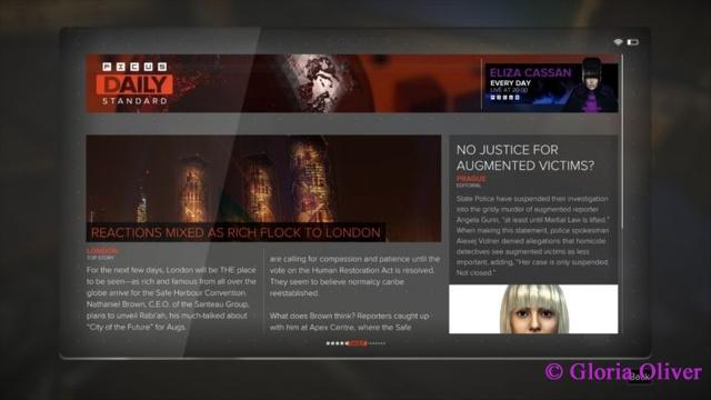 Deus Ex: Mankind Divided - newspaper
