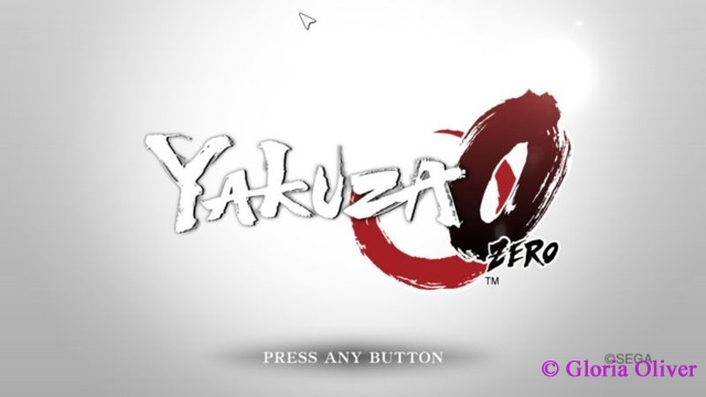 Yakuza 0 - Title Screen