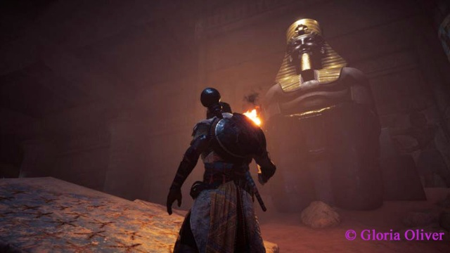 Assassin's Creed - Origins - buried temple statue