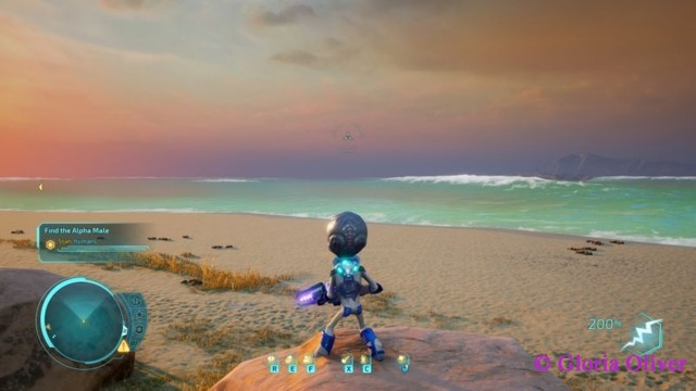 Destroy All Humans - beach shot