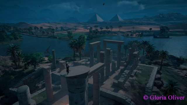 Assassin's Creed Origins - sweeping view of ruins